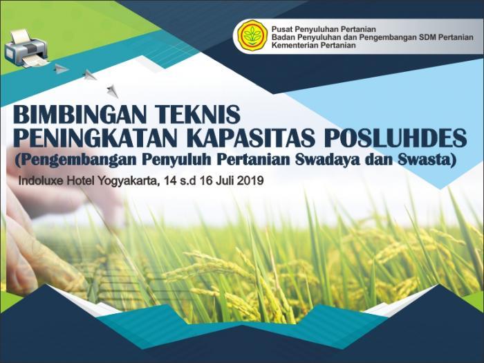 bimtek peningkatan kapasitas posluhdes (pengembangan penyuluhan pertanian swadaya dan swasta) yogya, 14 s.d 16 juli 2019