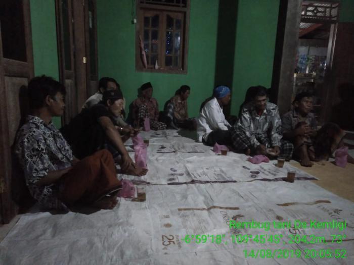 Rembug Tani desa Kemligi Kecamatan Wonotunggal Kabupaten Batang Propinsi Jawa Tengah
