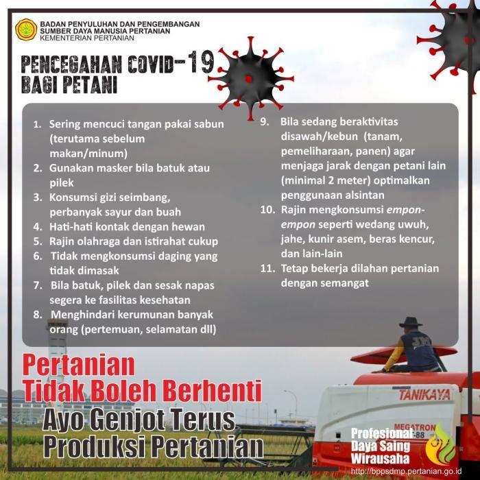pencegahan Covid19 bagi petani