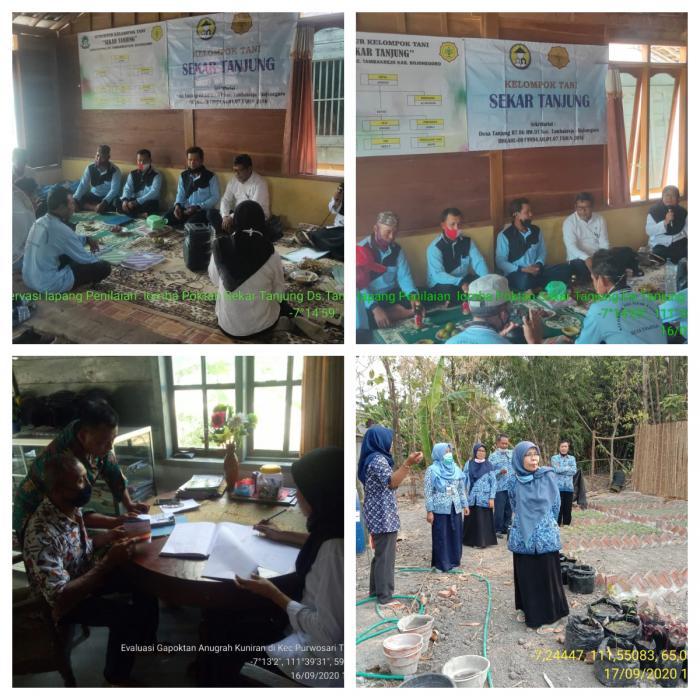 Observasi Lapangan Pemenang Lomba Penyuluh Pertanian Teladan, Kelompoktani , Gapoktan , Dan Petani Berprestasi Tingkat Kabupaten Bojonegoro Jawa Timur