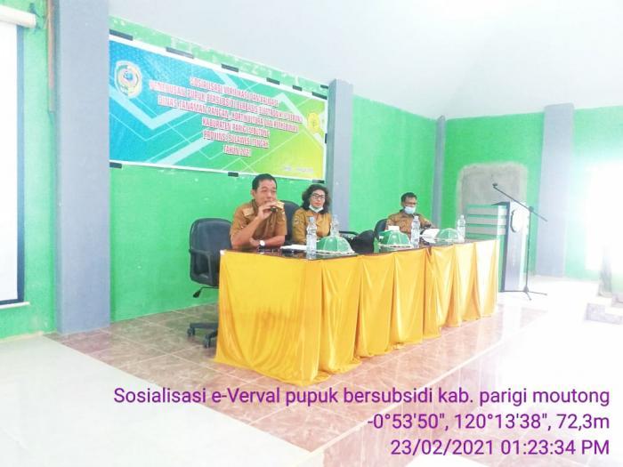 Pertemuan Sosialisasi Verifikasi Dan Validasi Penyaluran Pupuk Bersubsidi Berbasis Elektronik (e- Verval)