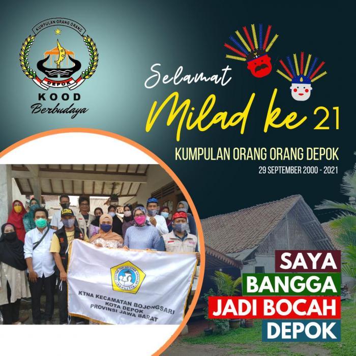 KTNA Kecamatan Bojongsari Mengucapkan Selamat Milad ke-21 KOOD Kota Depok