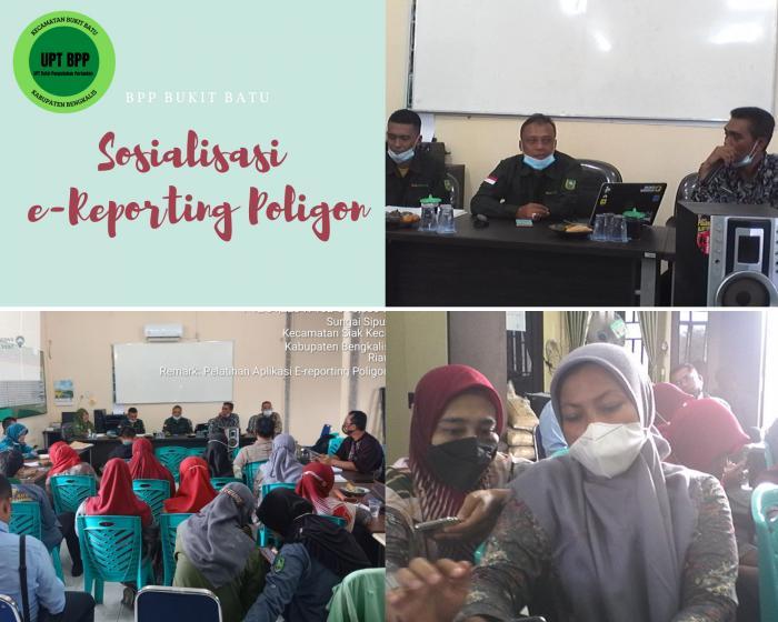 SOSIALISASI E-REPORTING POLIGON DI KABUPATEN BENGKALIS