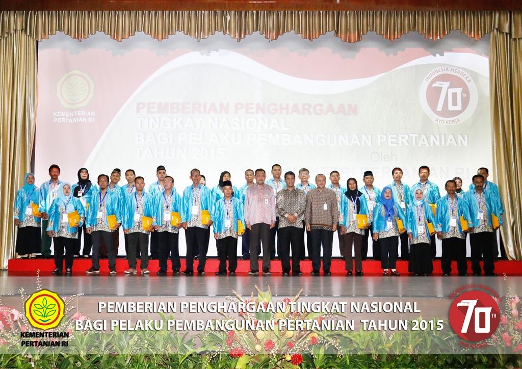 Penerima Penghargaan bersama Menteri Pertanian