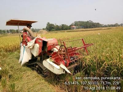 Tingkatkan Produksi, Petani Purwakarta optimalkan penggunaan alsintan