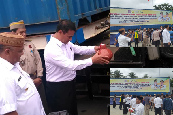 Gorontalo, Menteri Pertanian Lepas Ekspor Tepung Kelapa